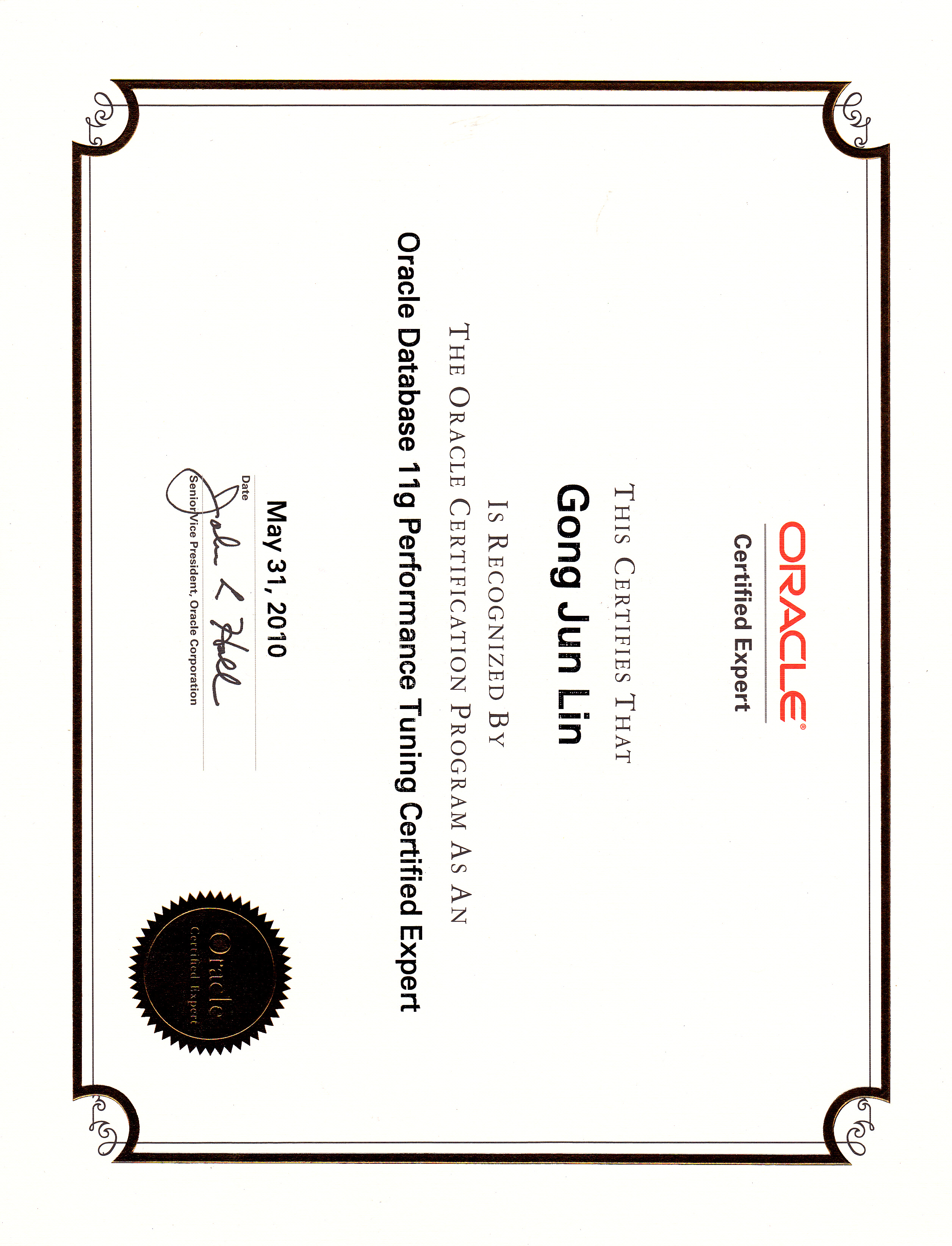 Oracle certificates george lin a hard working dbas blog oracle certificates 1betcityfo Image collections